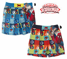 2015 Spiderman Marvel OFFICIAL BEACH SWIMMING SHORTS lined trunks SUMMER 2015