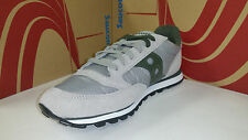 Saucony Men's Jazz Low Pro Grey Green Running Shoes size 7.5-13