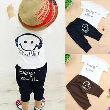 2PC Cotton Baby Boys Summer Clothes T Shirt Top And Short Pants Outfits Set 2-7Y