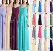 New Formal Long Ball Gown Party Prom Bridesmaid Evening Dress Size Stock 6-18