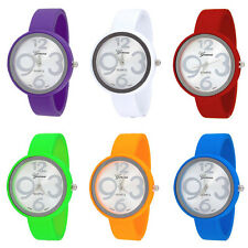 New Geneva Silky Coated Women's Bangle Cuff Watch - Choose your Color