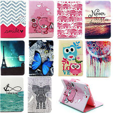 PU Leather Stand Cover Case For iPad 2/3/4 5 6/Air2 Mini2/3 Samsung T110/230/530