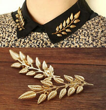 Woman Cool Vintage Fashion Daren Punk Silver Gold Collar Lapel Tie Pins Brooches