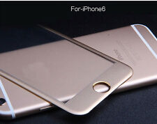 For iPhone 6 & Plus Full Screen Protector 3D Circled Metal Alloy Tempered Glass
