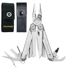 NEW LEATHERMAN WAVE STAINLESS STEEL MULTITOOL + SHEATH NYLON OR LEATHER
