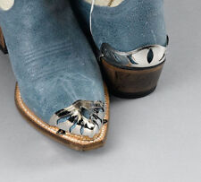 Western Silver Plated Toe Tips or Heel Guards for Cowboy Boots