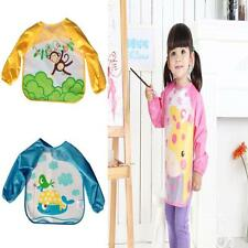 Kids Toddler Waterproof Long Sleeve Bib Children Apron Artist Painting Smocks B