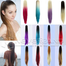 Clip In Thick Pony Tail Hair Extensions Claw On Ombre Ponytail Hair Extensions