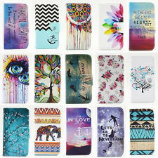 Leather Stand For Apple iPhone Printed Flip Wallet Case Cover Card Slot Magnetic