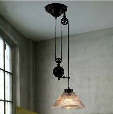 New hot Vintage Edison Industrial Pulley Pendant Lights W/Adjustable Wire Lamps