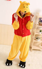 Hot Unisex Adult Pajamas Kigurumi Cosplay Costume Animal Onesie Sleepwear Winnie