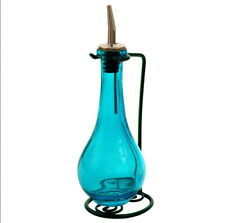 Olive Oil Dispenser, Oil & Vinegar Dressing, Decorative Colored Glass Oil Bottle