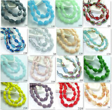 New 40pcs Faceted Teardrop glass crystal Jade Spacer beads 8x12mm 50 colors