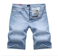 Boys Men Short COTTON Jean Pants Jeans Straight Leg Trousers Cargo Skinny Shorts