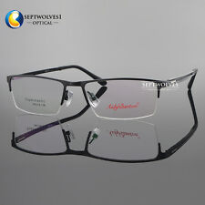 Metal Spectacles for Men Glasses Optical Half Rimless Eyeglass Frame Eyewear RX