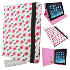 Universal Folio Flip PU Cuir Tablette Housse Rétro zoom Lolly media stand