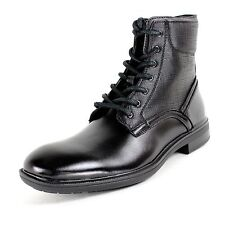Calvin Klein Men's Leather Casual Zip Closure Boots Paterson F0563 Black Medium