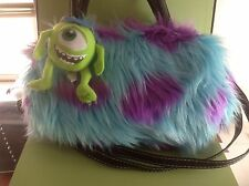 Monster University Mike & James Crossbody faux fur handbag US seller keychain
