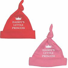 BabyPrem Boys Girls Clothes Accessories DADDY'S PRINCESS Pink Red Knotted Hat