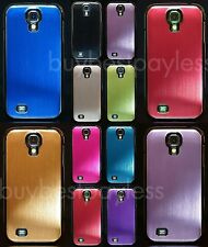 Luxury Brushed Aluminum Metal Ultra Thin Case for Samsung Galaxy S4 +Stylus+Film