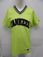 Russell Athletic New York Yankees Lime Baseball Jersey Sewn Embroidered M - XXL
