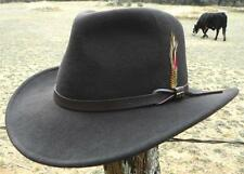 NEW Scala CRUSHABLE Wool RAIN PROOF Chocolate Outback Western Cowboy Hat NWT AAA