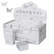 WEDDING CONFETTI Biodegradable Tissue Paper White Silver Butterfly Shapes