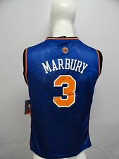 New Adidas New York Knicks NBA # 3 Stephon Marbury Basketball Youth Jersey Blue
