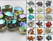10pcs Faceted oblong finding Cut glass crystal Loose Spacer oval beads 9x12mm