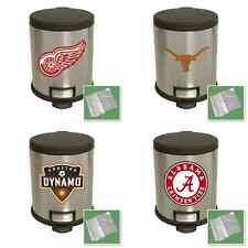 SPORTS LOGO THEME STAINLESS STEEL STEP LID TRASH CAN WASTE BASKET RECYCLE BIN