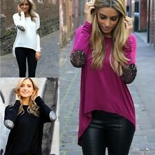 Sexy Fashion Women's Loose Tops Long Sleeve Shirt Casual Blouse