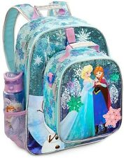 Disney Store Frozen Elsa Anna  Light UP Backpack Tote Water Bottle School Supply