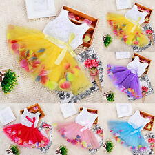 Baby Girls Kids Princess Tutu Dresses Flower Sleeveless Party Tulle Skirt Dress