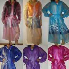 Quality Semi- Transparent Plastic PVC Vinyl Raincoat MAC Regenmantel