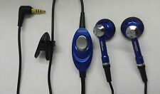 Universal Verizon DSB-50001 2.5mm Hands-Free Stereo Headset Earbuds w/Mic Blue