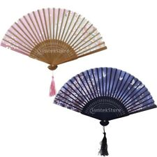 MagiDeal Folding Chinese Silk & Bamboo Hand Fan Dance Wedding Party Prom Favors