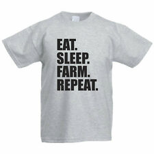 EAT SLEEP FARM REPEAT - Agriculture / Funny / Farming Children's Themed T-Shirt