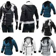 Men's Fashion Zip Up Designed Casual Slim Fit Coat Jacket Hoodies Hooded Outwear
