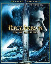 Percy Jackson: Sea of Monsters (Blu-ray/DVD, 2013, 3-Disc Set, Includes...