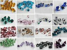 10pcs 8mm Crystal Charm Finding Faceted Square Cube Cut Glass No Hole Beads