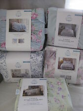 NEW SIMPLY SHABBY CHIC DUVET COVER SET KING FULL/QUEEN TWIN LILAC BLUE GREEN RED