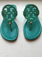 Tory Burch Brand New Size 5 Miller Sandals Turquoise/Electric Eel blue