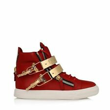 2015 100% authentic leather GZ double gold patch mens womens shoes sneakers #35