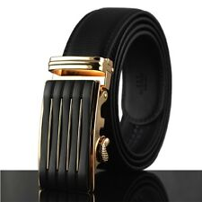 Casual Luxury Fashion Automatic Buckle Mens Waist Strap Genuine Leather Belts