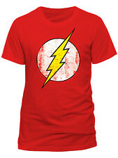 Official DC Comics Flash Logo T-Shirt Big Bang Theory Sheldon Coop Cartoon Merch