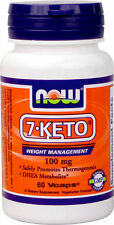 NOW FOODS 7-Keto  100mg, 60 Veg Capsules  DHEA   Metabolite