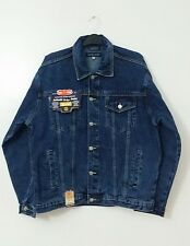 Mens Denim Stonewash Jeans Jacket Casual Aztec Blue Jeans Authentic Indigo Denim