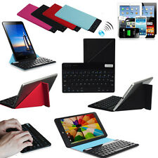 """Universal Slim Bluetooth Keyboard  Magnetic Case For 7"""" 8"""" 9"""" 10"""" 10.1"""" Tablet F"""