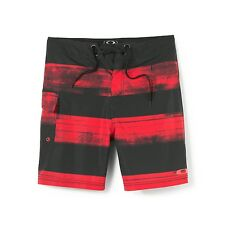 Mens Oakley Pipe 19 Board Shorts Boardshorts Red Line Yellow Size 36 38 40