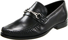Bruno Magli Men's Dress Shoes Pilson Nappa Leather Mocassin Loafers MP0101 Black